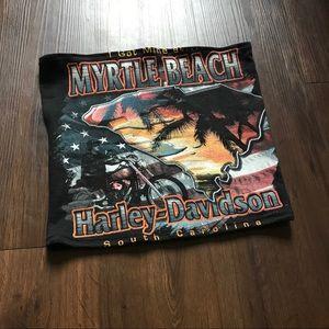 Black Harley Davidson Tube Top
